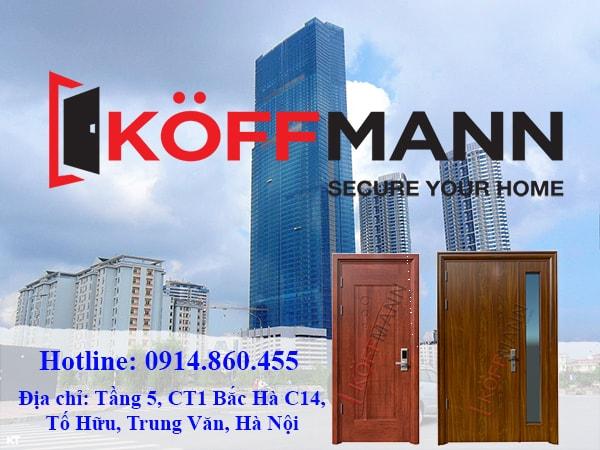 Mua cửa thép vân gỗ tại Hà Nội Koffmann