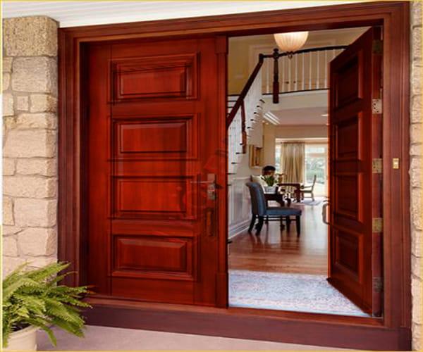 Lắp đặt cửa thép vân gỗ 2 cánh