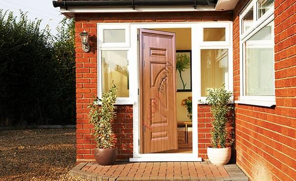 Cửa thép vân gỗ 1 cánh, cửa giả gỗ, cửa phòng ngủ, cửa thông phòng