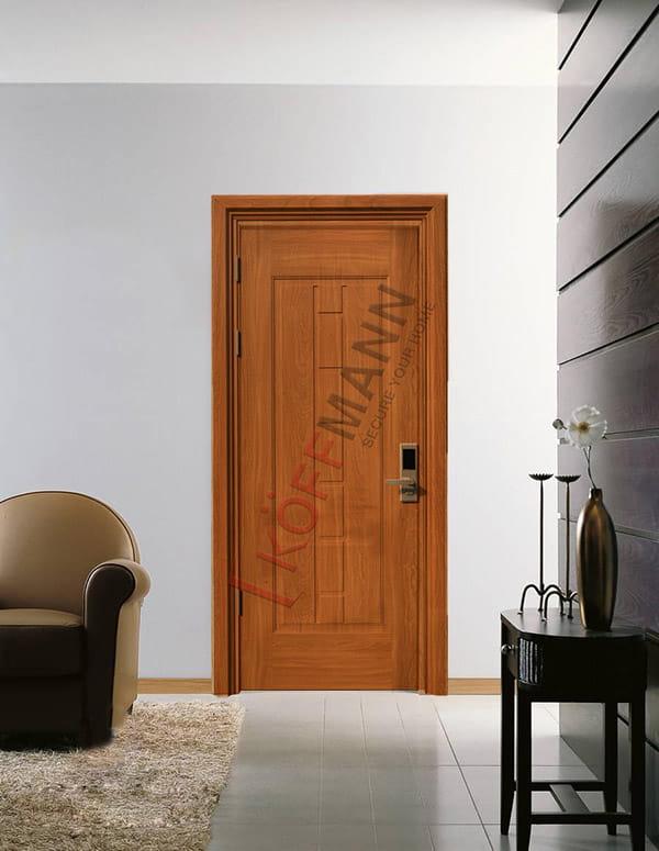 Mẫu cửa thông phòng đẹp, hiện đại bằng cửa thép vân gỗ