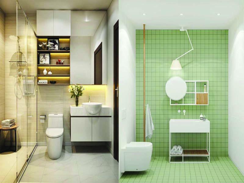 lựa chọn thiết kế cho phòng tắm nhỏ