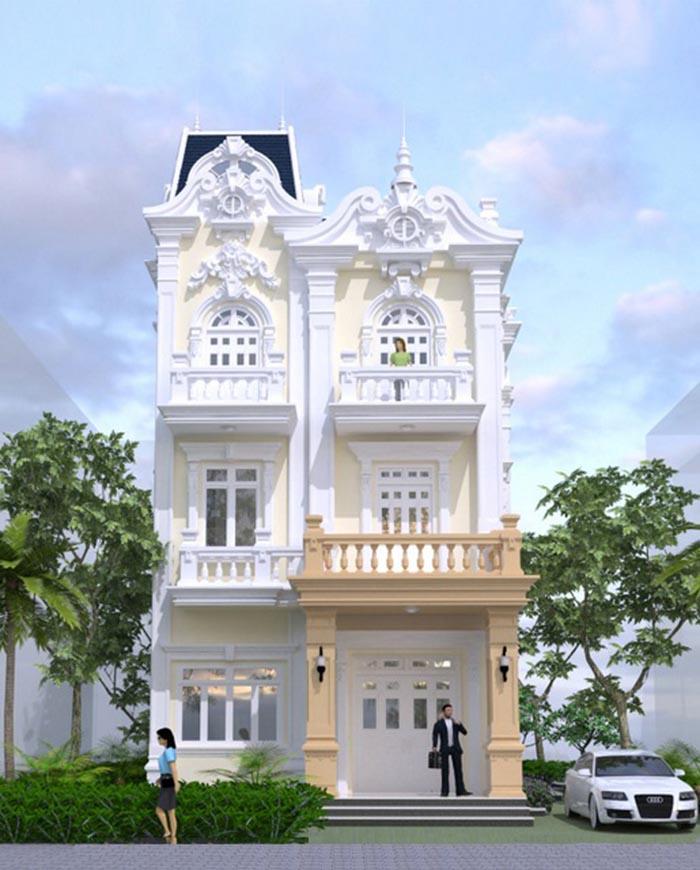 Căn biệt thự được xây dựng trên mảnh đất 112m2