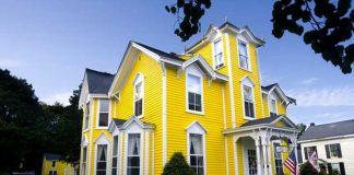 màu vàng đẹp cho không gian ngoại thất