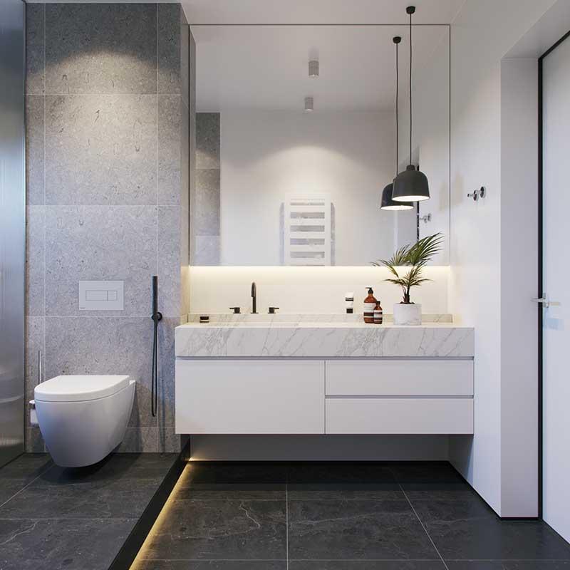 thiết kế phòng tắm cho diện tích nhỏ