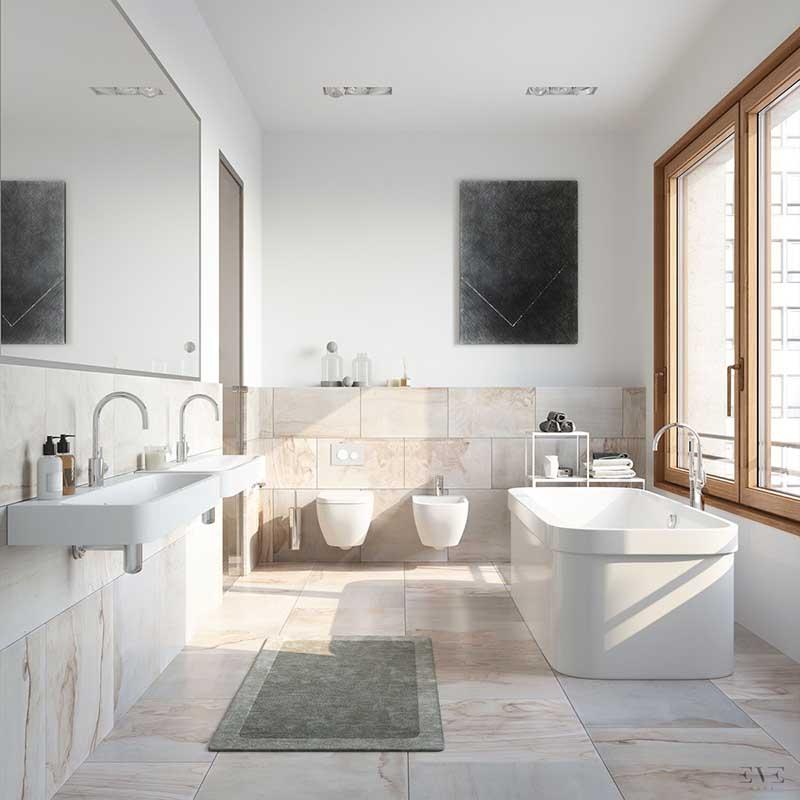 phòng tắm cho diện tích nhỏ