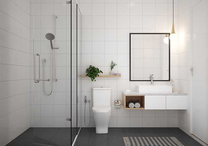 đồ nội thất cho phòng tắm nhỏ
