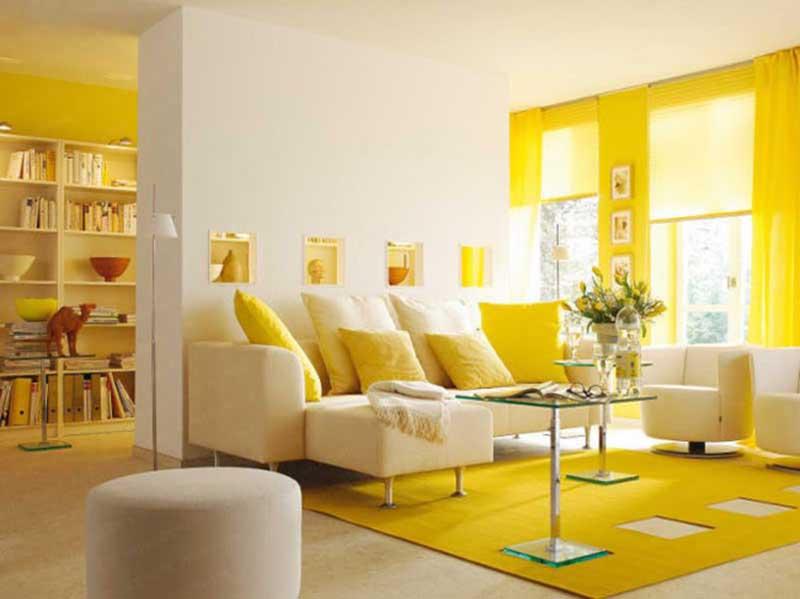 sơn nhà màu vàng đẹp