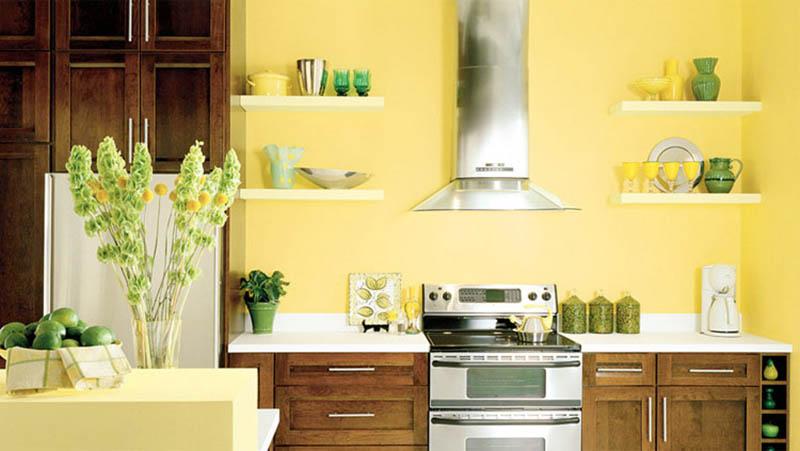 sơn nội thất màu vàng