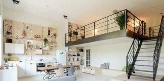 thiết kế cầu thang cho gác lửng cho nhà diện tích nhỏ