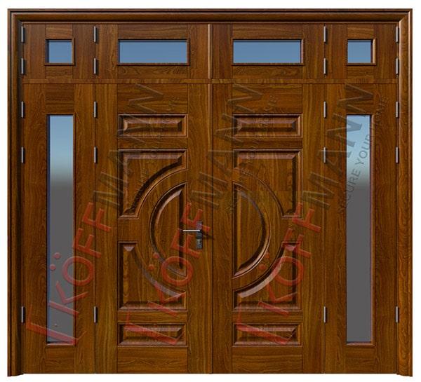 cửa thép vân gỗ 4 cánh
