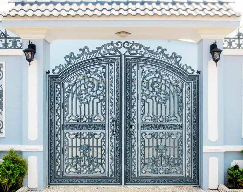 thiết kế cổng sắt 2 cánh