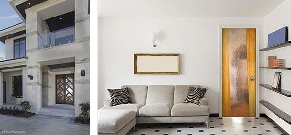 Chọn cửa gỗ hoặc cửa giả gỗ cho ngôi nhà đương đại