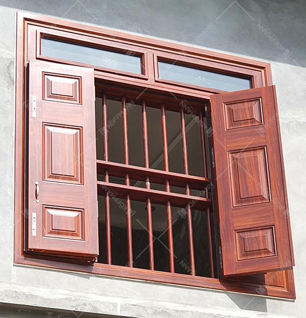 giá cửa sổ thép vân gỗ đẹp